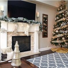 Gray Trellis Area Rugs from target Decor, Christmas Mantle Decor, Christmas Home, Christmas Fireplace, Home Decor, Christmas House, Rose Gold Christmas, Christmas Decorations For The Home, Fireplace