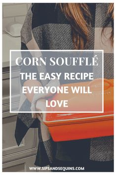 This Corn Soufflé recipe is a sweet addition to any savory holiday plate and beyond easy to make! Great recipe to bring to a potluck as well! Corn Muffin Mix, Corn Muffins, Veggie Side Dishes, Side Dishes Easy, Christmas Recipes, Thanksgiving Recipes, Corn Souffle, Savory Foods, Eat To Live