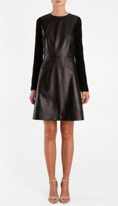 Tibi Leather Dress