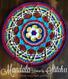 Transcendent Crochet a Solid Granny Square Ideas. Inconceivable Crochet a Solid Granny Square Ideas. Mandala Crochet Patron, Crochet Mandala Pattern, Crochet Circles, Granny Square Crochet Pattern, Crochet Round, Crochet Squares, Free Crochet, Knit Crochet, Crochet Patterns