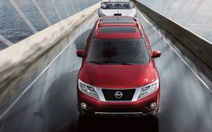 The 2015 Nissan Pathfinder is available in seven distinct trim levels: S, SV, SL, SL Tech, SL Premium and Platinum. Every trim level features a 3.5L DOHC 24-Valve V6 engine, capable of 260 hp and 240 lb-ft of torque. #Nissan #NissanPathfinder
