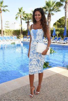 Lipsy Print Bodycon Midi Dress Size 16. As seen on Michelle Keegan.
