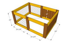 Building the frame of the rabbit hutch