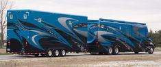 silver crown RV and Stacker trailer-SR Cool Campers, Rv Campers, Camper Trailers, Luxury Motorhomes, Rv Motorhomes, Bus Camper, Custom Big Rigs, Custom Trucks, Cool Trucks