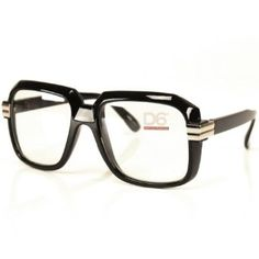 300ae96b93c523 Run DMC Rapper Retro Large Clear Lens Eye Glasses Black. Clear all to see.  With retro-style glasses.