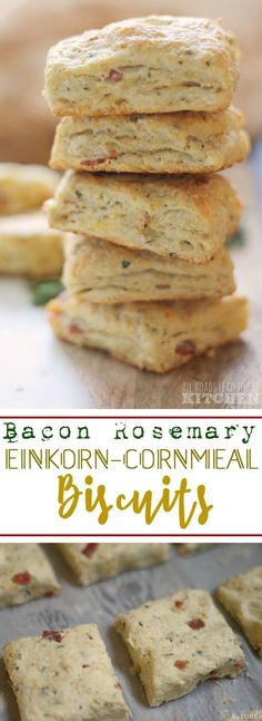 Bacon Rosemary Einkorn-Cornmeal Biscuits