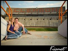 Wedding Wednesdays: Part I - Sharon & Govie's Clemson Love Story Grad Pics, Graduation Pictures, Tiger Girl, Happy May, Clemson, Family Love, Engagement Shoots, Happily Ever After, Fall Wedding