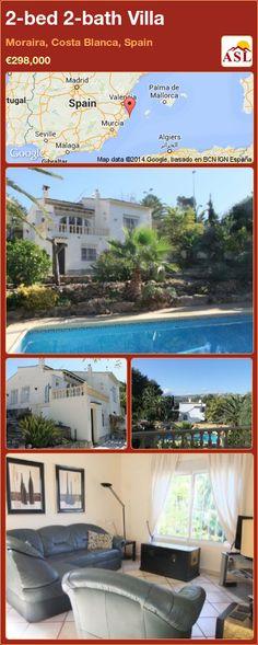 2-bed 2-bath Villa in Moraira, Costa Blanca, Spain ►€298,000 #PropertyForSaleInSpain