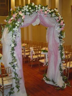 Wedding arch. Blue instead of pink.
