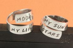 Sun and Stars Ring | My Sun and Stars Ring Set - Game of Thrones Ring Combo - Couples Rings ...