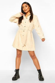 Shop boohoo's range of womens and mens clothing for the latest fashion trends you can totally do your thing in, with of new styles landing every day! Baggy, Punk, Belted Shirt Dress, Boyfriend Style, Skinny, Belt Tying, Dress Outfits, Dresses, Dress Collection