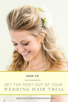 Get the most out of your wedding hair trial