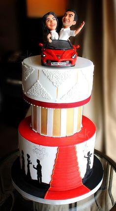 Wedding Anniversary Cakes, Wedding Cakes, Plan Your Wedding, Wedding Blog, Engagement Ring Platter, Red Carpet Theme, Fresh Fruit Cake, Cake Name, Big Cakes