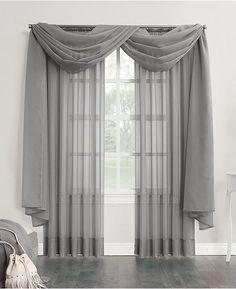 This elegant sheer voile curtains scarf gently capture light and bring elegant beauty to the windows of any living space. Scarf Curtains, Voile Curtains, Panel Curtains, Window Scarf, Drapery, Living Room Decor Curtains, Bedroom Decor, Curtains For Bedroom Window, Farmhouse Window Treatments