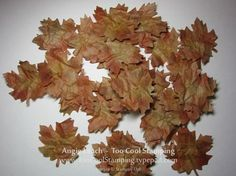Realistic leaves using Craft Paper that comes in Stampin Up order box