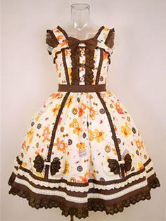 Bears & Donnuts Print Dress