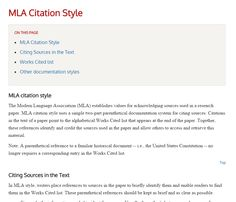 MLA style from Cornell University Library