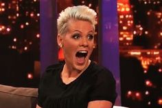P!nk. Surprised. As. Hell. ;-$