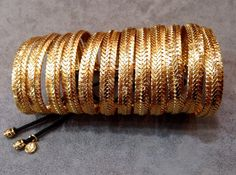 Gold plated brass bracelete cuff