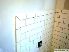 Bullnose Tile Edge a Bullnosed Border Tile Tile Around Bathtub, Bathtub Tile, Beveled Subway Tile, Subway Tiles, Subway Tile Patterns, Blue Backsplash, Bathroom Backsplash Tile, Easy Backsplash, Travertine Backsplash