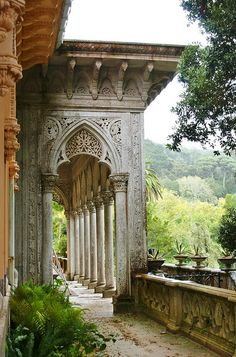beautiful carved terrace