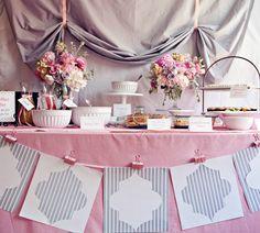 Solteiras Noivas Casadas: Decoração do Casamento: Rosa e Cinza