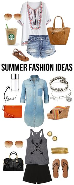 Fabulous Summer Fashion Ideas -- favorites on mine!  Time to do a little shopping for the warmer weather, right? livelaughrowe.com