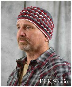 Campfire Nights Beanie! - free crochet pattern from Elk Studio.