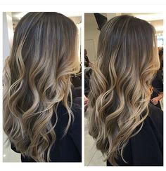 Hair Balayage Highlights Curls 15 New Ideas Grey Balayage, Balayage Hair Blonde, Balayage Highlights, Ombre Hair, Sand Blonde Hair, Caramel Balayage, Haircolor, Babylights Brunette, Partial Balayage