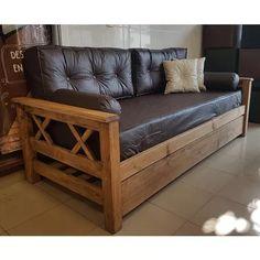 Divan Cama + Carro + Colchon + Funda + 2 Resp + 2 Caramelos - $ 6.490,00 Outdoor Sofa, Outdoor Furniture, Outdoor Decor, Small Condo Decorating, Sleeper Couch, Sofa Design, Bed Frame, Guest Room, Sweet Home