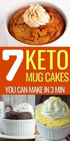 Keto Chocolate Mug Cake - Deliciously Moist 1 Minute Keto Dessert Low Carb Mug Cakes, Keto Mug Cake, Low Carb Desserts, Easy Desserts, Dessert Recipes, Diet Desserts, Dessert Simple, Keto Dessert Easy, Comida Keto