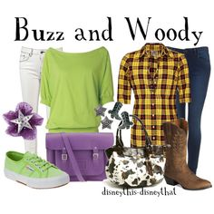@Nicole Warren ITS SOOOOO US!!!! Buzz and Woody, created by disneythis-disneythat on Polyvore
