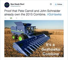 Seahawks Combine - Totally makes sense here in WA, especially east of the mountains!!  Love it!