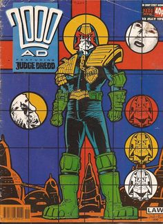 David droid's classic homages to famous modern artists,beginning with this piece based on notorious pranksters Gilbert and George! Comic Book Covers, Comic Books, Famous Modern Artists, 2000ad Comic, Gilbert & George, Judge Dredd, Dark Horse, Comic Art, Science Fiction