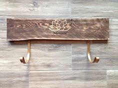 Yoga, namaste, Yoga mat holder, horizontal, yoga rack, rustic, distressed, classy, wood, gold metallic, lotus flower, yoga mat storage by IAECreations on Etsy https://www.etsy.com/listing/292214785/yoga-namaste-yoga-mat-holder-horizontal