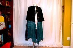 plus size duster sweater teal purple pink plaid lagenlook altered refashioned restyled upcycled boho hippie chic artsy by RestyledBohoPlus on Etsy