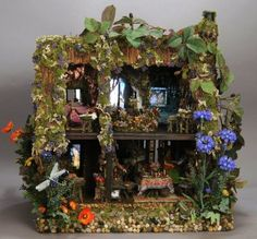 The Fantasy Forest: Poppy's Cottage at Lessor Dixter ~ Melissa Chaple at The Great American Dollhouse Museum in Danville KY.
