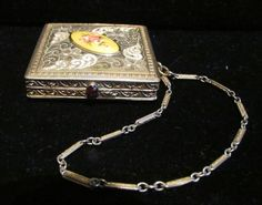 Antique Compact Purse Powder Compact by PowerOfOneDesigns on Etsy