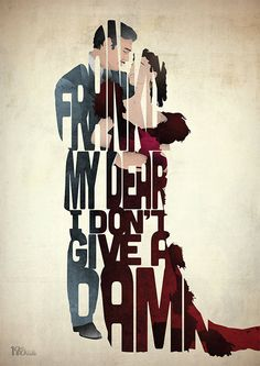 Give A Damn A film typography quote art poster by 17thandOak