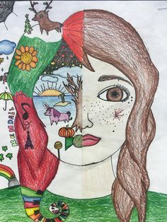 Art Education Lessons, Art Lessons Elementary, September Art, Self Portrait Art, 7th Grade Art, Middle School Art Projects, Identity Art, Art Lesson Plans, Art Classroom