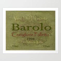 Vintage Wine Label Print (Barolo) - $22.88