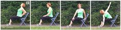 #chairyoga simple chair camel backbend, simple seated twists.  Gail Pickens-Barger, Chair Yoga Fitness Instructor