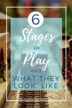 Children can be expected to go through these 6 stages of play, which tie into their social play skills and all build up to being able to play cooperatively.