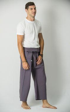 Unisex Thai Fisherman Pants in Silver – Harem Pants