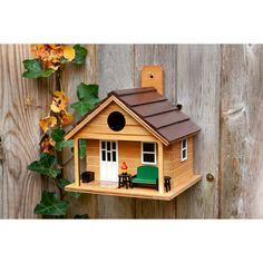 Home Bazaar Tiny House Man Cave 7 in x in x in Birdhouse Large Bird Houses, Wooden Bird Houses, Decorative Bird Houses, Bird Houses Diy, Purple Martin House, Wren House, Humming Bird Feeders, Backyard Birds, Wood Projects