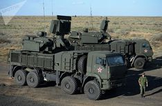 Russia has urged the US to engage in military co-operation amid reports it is sending an advanced anti-aircraft missile system to Syria. Army Vehicles, Armored Vehicles, Military Weapons, Military Life, Weapons Guns, Armoured Personnel Carrier, Armored Truck, Soviet Army, Military Aircraft