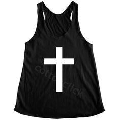 Art Cross Tshirt Cross Shirt Jesus Shirt Hipster Shirt Symbol Cross... ($14) ❤ liked on Polyvore featuring tops, black, tanks, women's clothing, hipster tops, yoga shirt, black cross shirt, checkered top and tan top