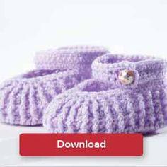 Crochet Patterns Booties Stylish mary-jane booties up to 12 months. Crocheted in Bernat Baby. Crochet Fall, Free Crochet, Christmas Knitting Patterns, Crochet Patterns, Baby Scarf, Universal Yarn, Plymouth Yarn, Paintbox Yarn, Red Heart Yarn