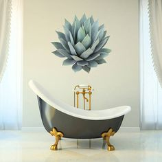 succulent plant wall sticker by oakdene designs | notonthehighstreet.com