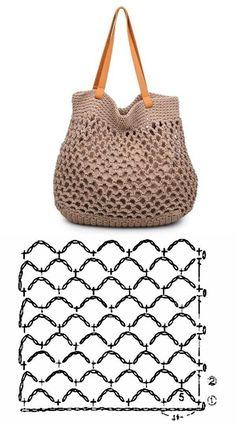 De Croche De Croche barbante De Croche com grafico De Croche de mao De Croche festa - Bolsa De Crochê Free Knitting, Knitting Patterns, Crochet Patterns, Bag Patterns, Crochet Handbags, Crochet Purses, Crochet Bag Tutorials, Crochet Projects, Crochet Stitches